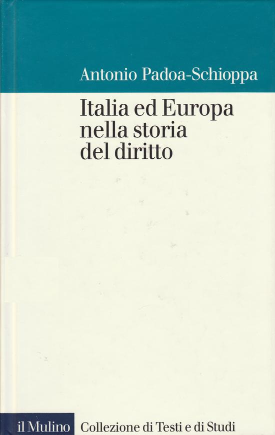 Copertina del libro Italia ed Europa nella storia del diritto